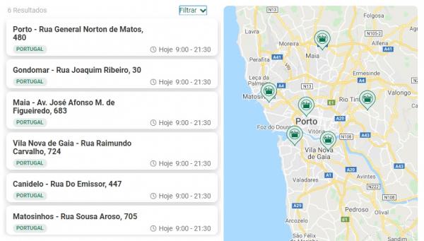 lista de lojas e morada Mercadona Porto